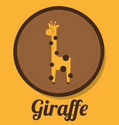 Giraffe design vector