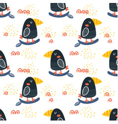 graphic toucan pattern vector image