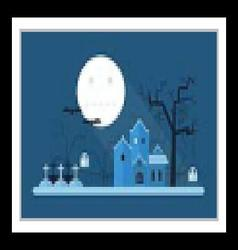 Halloween Mystic Landscape vector