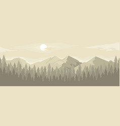 Horizontal panorama mountain range vector