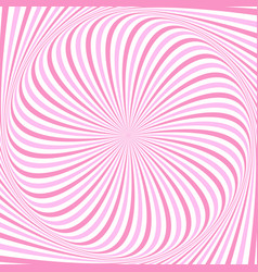 hypnotic spiral ray background design vector image