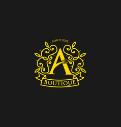 initial letter a fashion and boutique logo vector image