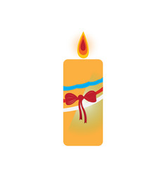 isolated christmas candle vector image