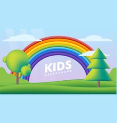 kids background flat fantastic landscape vector image