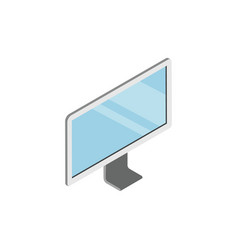 led tv device with blank screen isometric 3d icon vector image