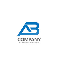letter ab geometric strong logo vector image