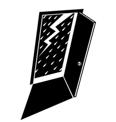 lightning with the rain vector image