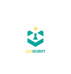 Lock security logo vector