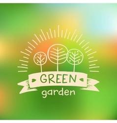 logo green gardenLogo organic food vector image