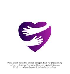 Love care creative logo concepts heart care logo vector