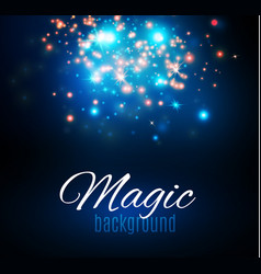 Magic space fairy dust infinity abstract vector