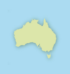 map of australia with shadow vector image