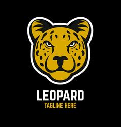 mascot leopard logo vector image