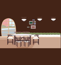 modern cafe empty no people restaurant with table vector image