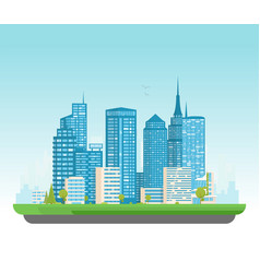 modern city with skyscrapers vector image