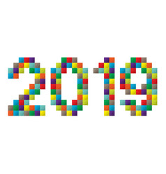 new year constraction kit vector image