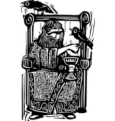 Odin on Throne vector