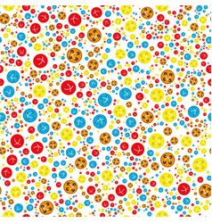 Pattern with red orange blue yellow buttons vector