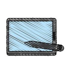 Pencil cartoon shadow vector