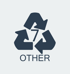 Plastic recycling symbol other 7wrapping plastic vector