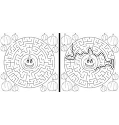 Pumpkin maze vector