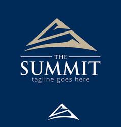 s letter based summit symbol vector image