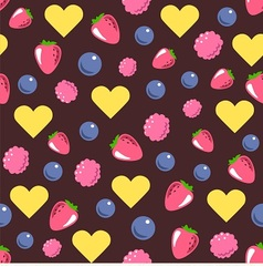 seamless texture consists of berries vector image