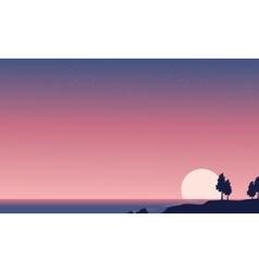 Seaside beautiful landscape of vector