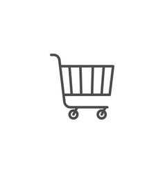 shopping line icon isolated on white background vector image