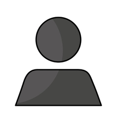 Silhouette user avatar icon vector