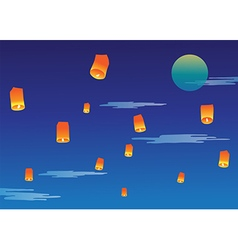 Sky lantern vector