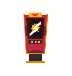 slot machine electronic virtual game machine vector image