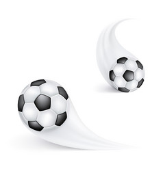soccer ball in flight football sign or emblem for vector image