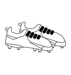 soccer sport shoes vector image