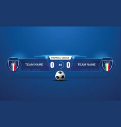 Soccer stadium scoreboard vector