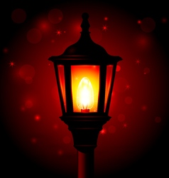 Street lamp - lantern on pole and blured vector