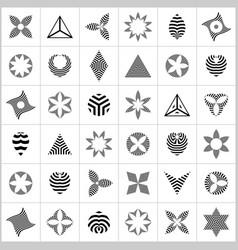 striped design elements vector image