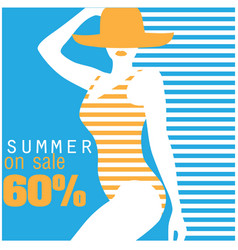 Summer on sale 60 swimming suit blue background v vector