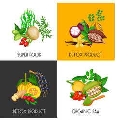 Superfood banners set vector
