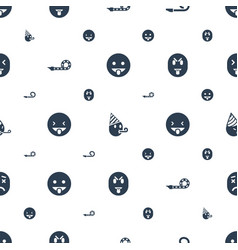 Tongue icons pattern seamless white background vector