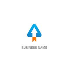 triangle shape arrow business logo vector image