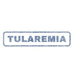 tularemia textile stamp vector image