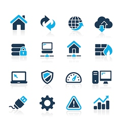 Web Developer Icons Azure Series vector image