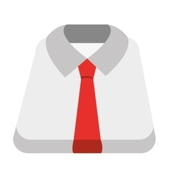 white shirt and red tie graphic vector image