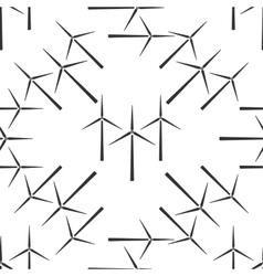 Wind generator icon pattern vector