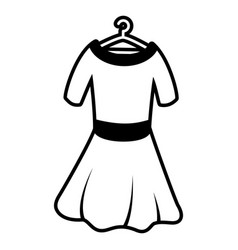 woman dress on hook vector image