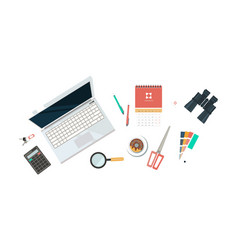 workplace of designer organization of working vector image