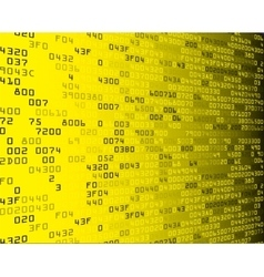 Yellow security background with HEX-code vector
