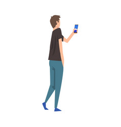 Young man photographing guy taking photo using vector