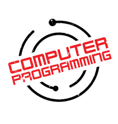 computer programming rubber stamp vector image vector image